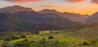 mountains at sunset