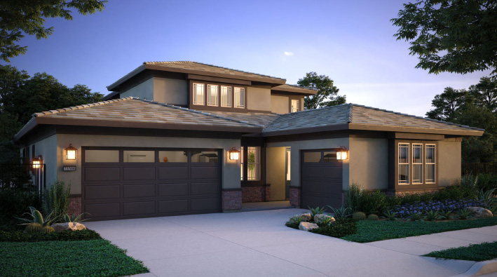 Exterior rendering of Esplanade model home at Sommers Bend.