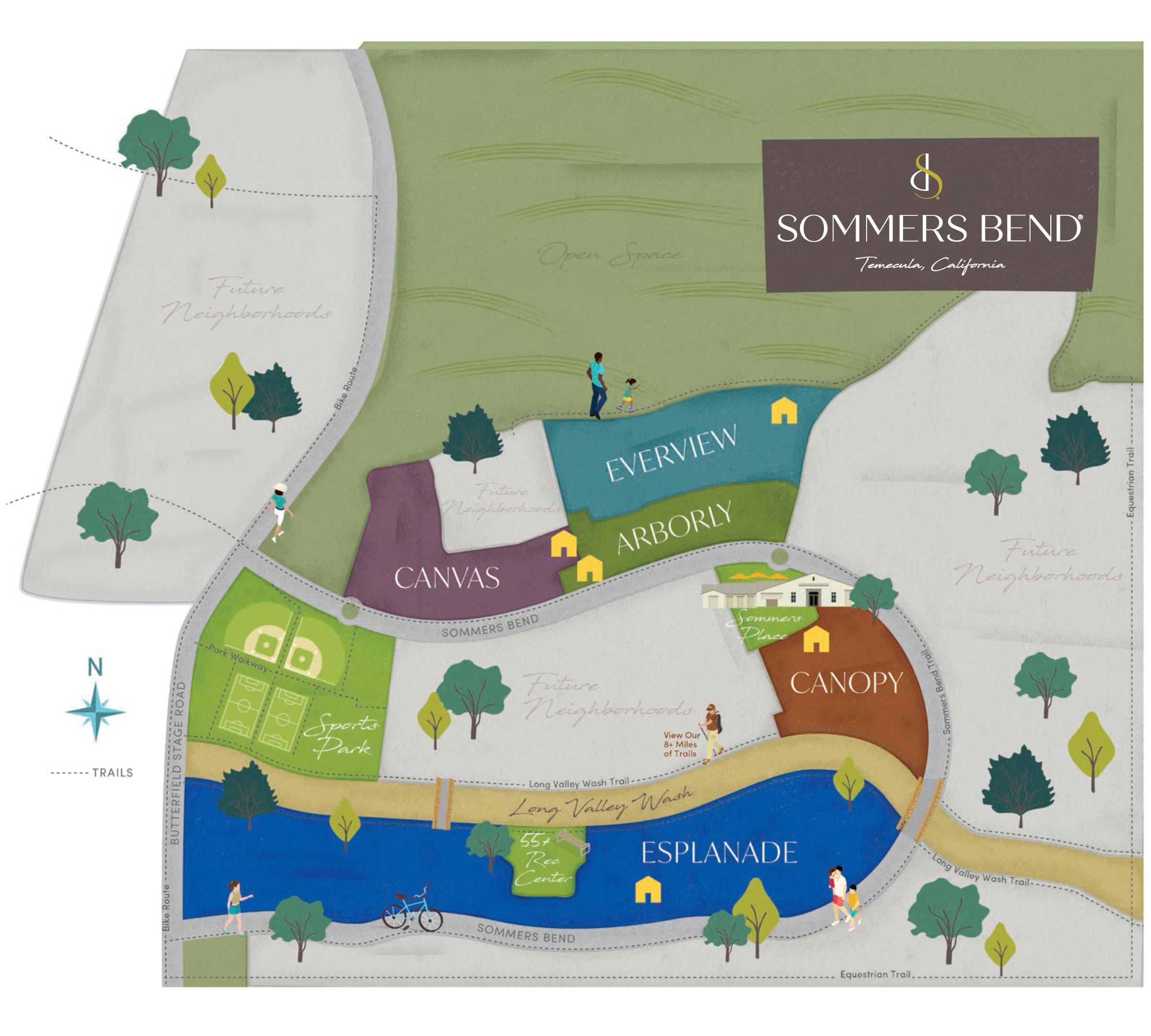 Sommers Bend communities map