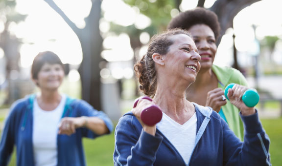 Ladies working out