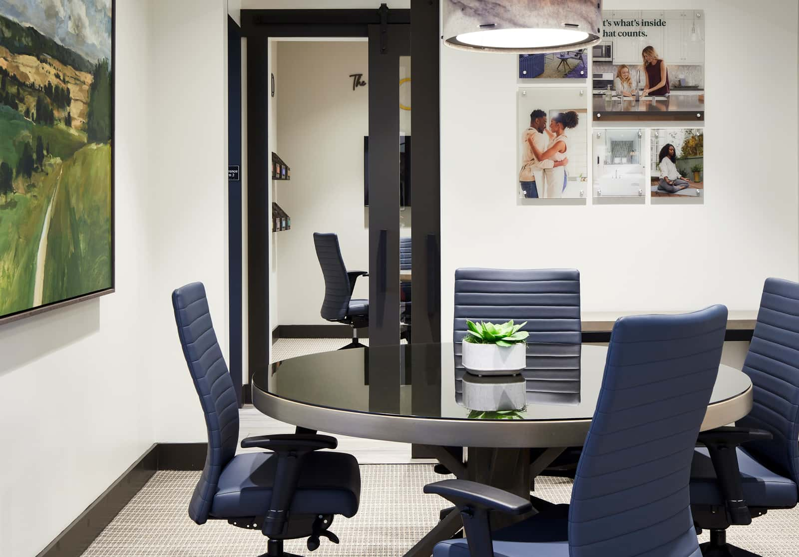 Woodside Study Room Blue Chairs
